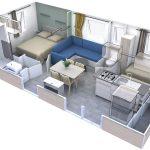 Le Village De Florine : Mobil Home Evolution 29 2chambres Plan 3d [1600x1200]